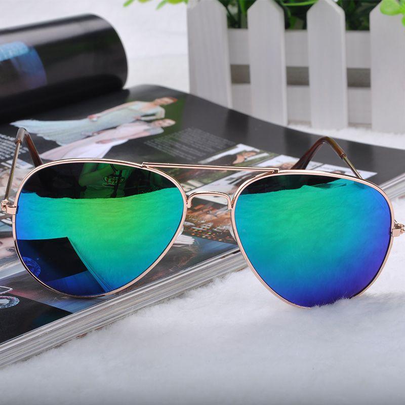 14 Styles Cool Fashion Sunglasses Goggle AVIATOR Metal Eyewear Bat Mirror UV Protection Multi Color Y60*MHM041#M5(China (Mainland))
