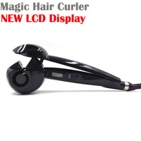 LCD Display Brushless Motor Pro Magic Hair Curlers Perfect  Automatic Hair Curler Styling Tools With Retail Box Free Shipping