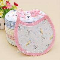 Free Shipping (7 Colors) Wholesale 10pc/Lot 100%Cotton Toddler Lunch Bibs Burp Cloths Pattern Baby Girl Boy Cartoon Towel Saliva
