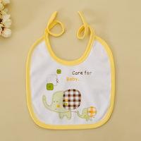 Free Shipping 2014 Hot Sale 50pc/lot 100% Cotton New Cute Cartoon Bandana Baby Elephant Baby Saliva Towel