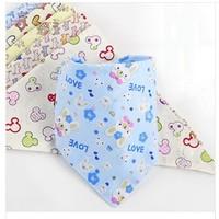 Free Shipping (15 Colors) 10pc/Lot 100% Cotton Children Cravat Burp Cloths Infant Towel Baby Towel Baby Boys and Girls Bandanas