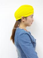 FD146 Unisex Indian Stretchable Turban Hat Headband Wrap Cap Headwrap Cloche