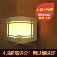 Cottage led creative night light photoswitchable human body induction lamp battery light wardrobe kitchen cabinet lamp