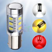 2pcs Cree led 1157 BAY15D 12 led Samsung 5630smd High Power LED Tail Brake Stop Light Bulbs Red car light source  p21/5w led