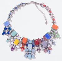 G1308 NEW HOT SALE trendy Fashion multi acrylic bib collar pendant Necklace & pendant nickel free