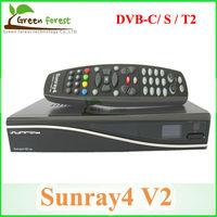 Sunray 4 V2 Wifi Triple Tuner 3 in 1 Tuner(dvb-c,dvb-s ,dvb-T/T2 ) Sim 2.20 DVB receiver  DM 800 HD SE V2