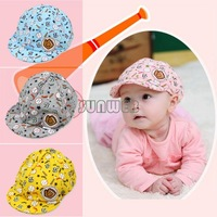 Hot Spring Autumn Baby Caps Elastic 42-52cm Unisex Cotton Baby Hat Caps Cute Baseball Caps 3-24 Months Free Shipping B6 SV004956