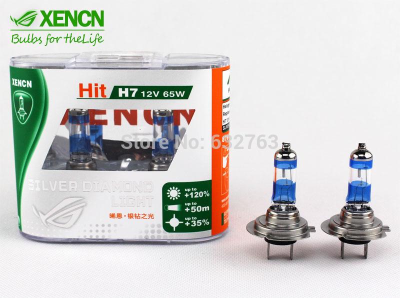 New XENCN H7 4300K 12V 65W Silver Cap Car Xenon White Bulbs More Bright Lamp Stylish Look Halogen OEM High Low Beam Headlights(China (Mainland))