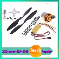 4set/lot A2212 930kv/1000kv/ Brushless Motor+30A ESC+1045 Propeller(1 pair) Quad-Rotor Set for RC Aircraft Multicopter