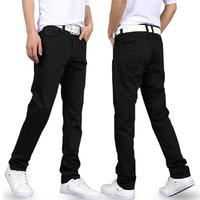 Jeans Men Black Jeans 2015 New Designer Brand Spring Warm Slim Denim Classic Straight Boy True Trousers Cheap Long Pants Jeans