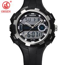 Hombres niños cuarzo exterior vestido ocasional de pulsera relojes analógico Digital LED de alarma fecha día reloj cronógrafo militar