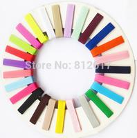 4.5cm Safe baby clip Mix colors 50pcs DIY hair Accessory clips Baby girl  Ribbon Hair Bows Clip hairband headband clips