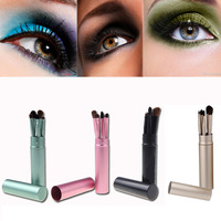 5PCS/Set Professional Pony Hair Cosmetic Kit Eye Makeup Tool Eyeshadow Brushes Set with Round Tube MAKE UP FOR YOU