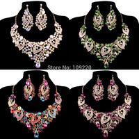 Free Shipping 1set/lot Crystals Rhinestone Wedding Party Bridal Bridesmaid Fashion Women Jewelry Sets AL08 WA565-1#