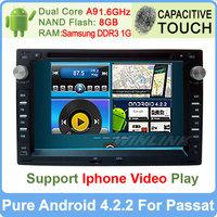 Volkswagen Passat B5 B6 CC Car DVD Player VW Polo Jetta Bora Golf 4 Pure Android 4.2 GPS Navi Radio Built-in WiFi Support OBDll