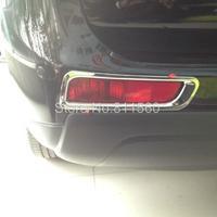 2013 2014 Mitsubishi Outlander 13 14 Rear Tail Fog Light Lamp Cover Trim 2pcs