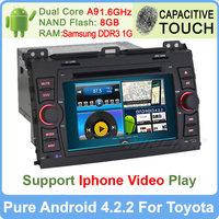 "Free Shipping! 7"" Android 4.2 Dual Core Capacitive Toyota Prado Land Cruiser 120 2002-2009 Car DVD Player Built-in WIFI GPS Navi"