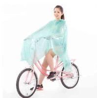 free shipping women's fashion bicycle raincoat transparent fashion poncho