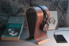 High Quality Wood Headphones Stand U-type Walnut Wooden Headset Holer Earphone Display Rack(China (Mainland))