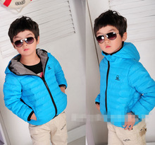 Free Shipping Retail 2014 New winter boy coat boys cotton-padded jacket,Kids winter duck down cotton coat 48 hours to send(China (Mainland))