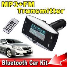 "Wireless Digital Car Kit MP3 Player Bluetooth FM Transmitter Radio Modulator 1.5"" LCD Support Remote Contral USB Port SD Card(China (Mainland))"