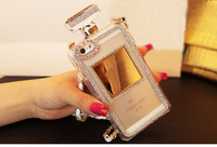 2014 Luxury 3D Bling Rhinestone Chain Bow Perfume Bottle Mobile phone Case for iPhone 4/5 for Samsung S3/S4/S5/Note2/Note3 Case