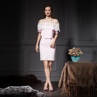 YIGELILA 889 Lace Vintage Generous Ladies Style Slim Women Sets Three-pieces Sets Free Shipping