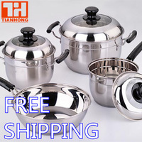 Europe style cookware set 7pcs (18-8 ss304)