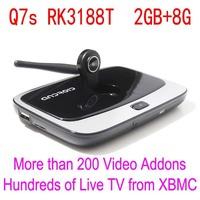 XBMC Fully Loaded, Android 4.4 TV Box RK3188T Quad-core CS918s,iptv box, Q7S Media Player HD 1080P Bluetooth 2G/8GB, 2MP cam,Mic