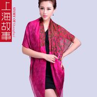 2014 Autumn Winter Silk Scarf Shawl New Design 100% Mulberry Silk Women Large Square Silk Scarf Wraps Female Scarves Cape