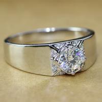1CT FOREVER BRILLIANT Luxury Quality Synthetic Diamond Mens Engagement Ring, Rings For Men,Men Engagement  Ring,Promise Ring Men