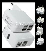 micro EU /US/UK/Au  Plug Home dual usb  wall Travel  Charger Adapter For Samsung  S4 S3 iphone 4S 5 ipad 2/3 Mini