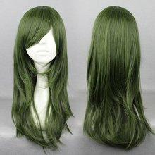 2014 Famous Kagerou Project Kido Tsubomi Halloween 65cm Long Dark Green Cute Girl Cosplay Wig(China (Mainland))