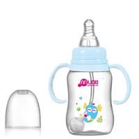 Free Shipping (3 Colors) High Quality Standard Portable Nursing Bottle Baby Feeding Bottle Milk Bottle PP Material 150ml