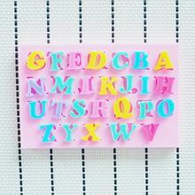 26 letras grinalda moldes chuveiro partido fondant , sab?o molde de silicone , moldes de vela, ferramentas artesanais a?úcar , moldes de chocolate, bakeware(China (Mainland))
