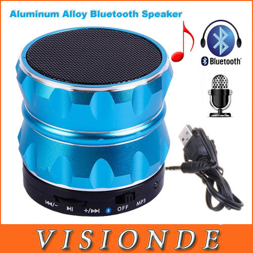 2014 Wireless Bluetooth Boombox Mini Speaker With Microphone For Samsung iPhone FM Radio MP3 Player Aluminum Bluetooth Speakers(China (Mainland))