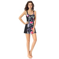 La Isla One-Piece Floral-Print Mouded-Cup Beachwear Swimwear with-Skirt