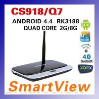 1pc CS918 MK888 K-R42 Android 4.4 Quad Core RK3188 TV Box  XBMC Preinstalled 2G RAM 8G ROM with Mini PC Bluetooth Free Shipping
