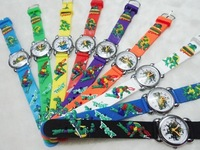 10pcs/lot Free Shipping Wholesales NEW Cartoon Teenage Mutant Ninja Turtles Children Watch Good Gift kids watch