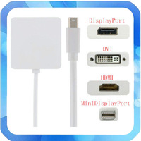 3 IN 1 THUNDERBOLT MINI DISPLAYPORT TO DVI + HDMI + DP ADAPTER for MAC PRO