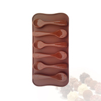 Chocolate Mould Spoon Shaped Cake Silicone Mold Bakeware Model Kitchen Baking Tools
