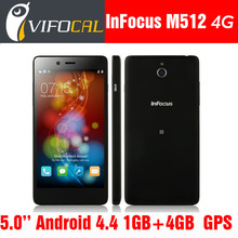"Original Foxconn InFocus M512 4G FDD LTE Smart Mobile Phone Snapdragon 400 5.0"" Gorilla Glass Android 4.4 1GB + 4GB 8.0MP GPS"