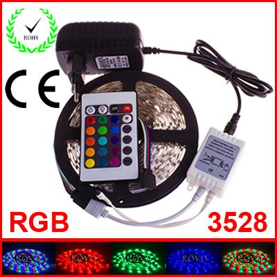 RGB LED Strip 5M 300Led 3528 SMD 24 Key IR Remote Contro