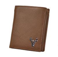 Luxury Vintage Designer 100% Top Genuine Oil Wax Leather Cowhide Men Male Short Wallet Wallets Purse Card Holder With Coin Bag