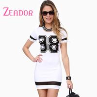 XS-XXL Plus Size 2014 Summer Women Dress Celebrity Football Dress No 98 Tights Dress