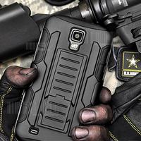 Future Armor Impact Hybrid Hard Case For Samsung Galaxy S4 i9500 / S4 Active i9295 / S4 Mini i9190 Cover Stand + Flim + Stylus