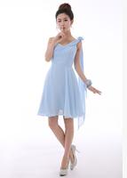 Free shipping New Arrival Bridesmaid dresses short off the shoulder dress  hot  sell Bridesmaid dress 2014
