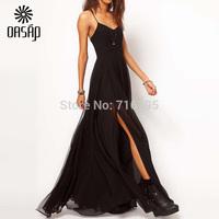OASAP 2015 Summer  Women Eye-catching Strap Chiffon Maxi Sexy Dress Casual  Dresses Size XXXL  XXL  Vestidos Femininos Verao
