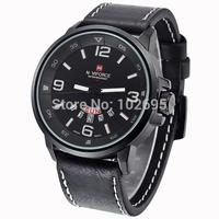 NEW Brand NAVIFORCE military watch Vogue Leather 30m Waterproof Date Day Quartz watch Analog Clock Army Mens sports Wrist Watch