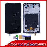 100% Test Black Color For LG G2 D802 LCD Display Touch Screen Digitizer Assembly Replacement Parts +Frame + Tool